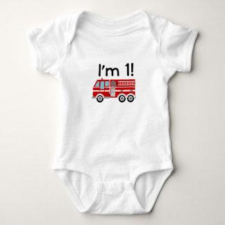 1st Birthday Fire Engine T Shirts
