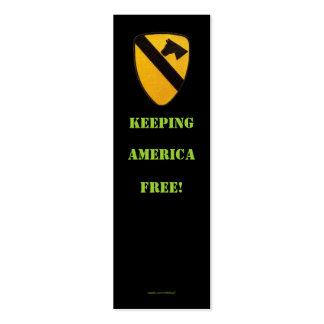 1st cavalry air cav war  veterans  bookmarker pack of skinny business cards
