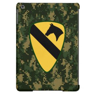 """1st Cavalry Division """"First Team"""" Dark Green Camo iPad Air Cover"""