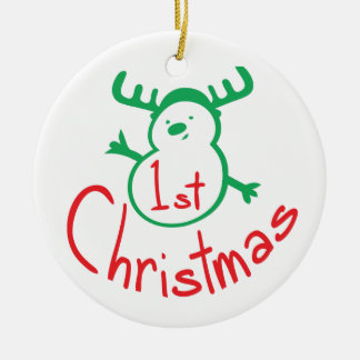 1ST CHRISTMAS Circle Ornament