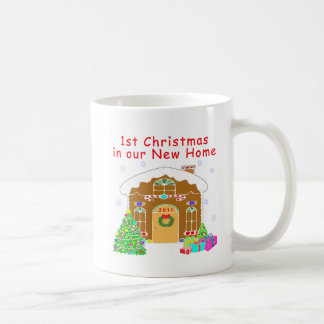 1st Christmas in our New Home Basic White Mug