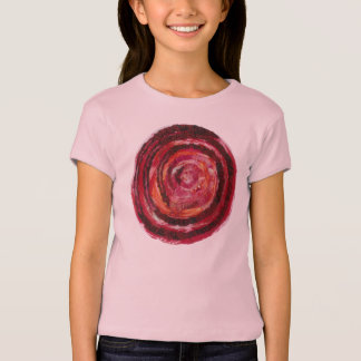 1st-Root Chakra Red Spiral Fabric-Paint #2 Tees