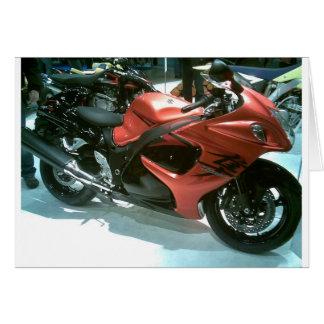 2008-model-hayabusa-motorbike greeting card