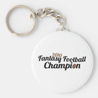2010 fantasy football champion basic round button key ring