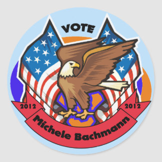 2012 Vote for Michele Bachmann Round Sticker