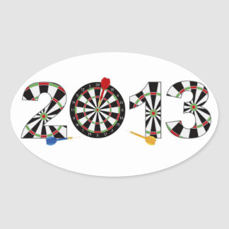 2013 Dartboard and Darts Sticker