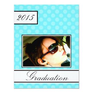 2015 Screen Dot Aqua Open House Party Graduation 11 Cm X 14 Cm Invitation Card