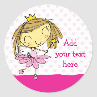 ♥ 20 STICKERS ♥ Cute Pink Princess Ballet girl