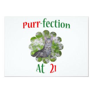 21 Purr-fection 13 Cm X 18 Cm Invitation Card