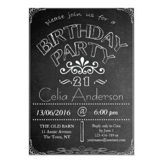 21st Chalkboard Birthday Celebration Invitation