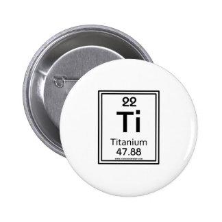 22 Titanium 6 Cm Round Badge