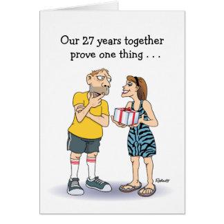 27th Wedding Anniversary Card: Love Greeting Card