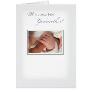 2820 Neutral Godmother Invitation Greeting Card