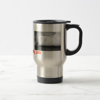 2 aces, real deal catering .com stainless steel travel mug