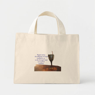 2 Corinthians 1:5 Overflowing Chalice/Sufferings Mini Tote Bag