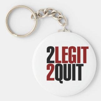 2 Legit 2 Quit Funny 80s Basic Round Button Key Ring