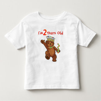 2 Year Old Royal Bear Birthday T-shirts