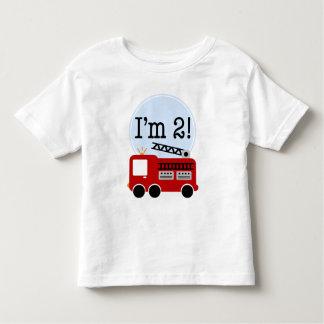 2nd Birthday Fire Truck T-shirts