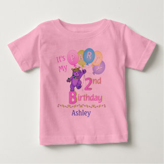 2nd Birthday Party Girl Princess Bear T Shirts