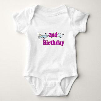 2nd second birthday aeroplane banner t-shirt
