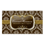 311-Coconut Macaroon Damask Pack Of Standard Business Cards