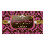 311 Golden Raspberry Chocolate Bling  Damask Pack Of Standard Business Cards