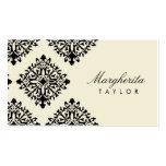 311 Margherita Cream et Blanc Damask Pack Of Standard Business Cards