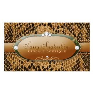 311-Sassy Snakeskin - Gold & Green Pack Of Standard Business Cards