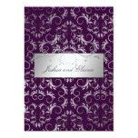311 Silver {Faux}  Divine | Eggplant 13 Cm X 18 Cm Invitation Card