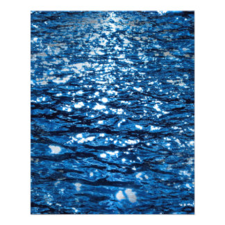 316143 BLUE OCEAN RIPPLES NATURE BEAUTY BACKGROUND 11.5 CM X 14 CM FLYER