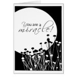 3527 Recovery Anniversary Black White Miracle Greeting Card