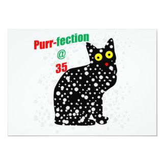 35 Snow Cat Purr-fection 13 Cm X 18 Cm Invitation Card