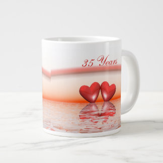 35th Anniversary Coral Hearts Jumbo Mug