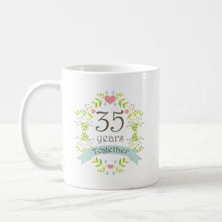 35th Anniversary Keepsake Beverage Basic White Mug
