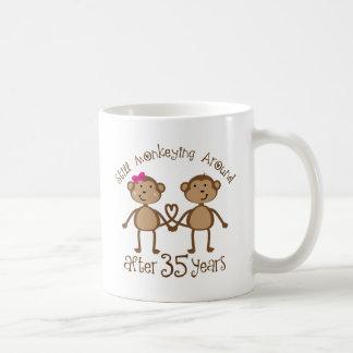 35th Wedding Anniversary Gifts Basic White Mug