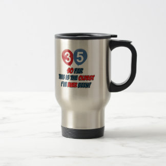 35th year old birthday gifts stainless steel travel mug