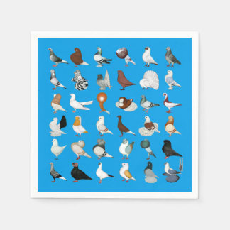 36 Pigeon Breeds Disposable Napkin