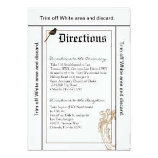 3.5x6 Directions Card Formal Love Birds Pigeon Due 13 Cm X 18 Cm Invitation Card
