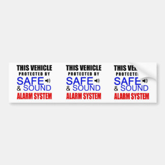 3 in 1 Fake Alarm System Sticker for your car! Bumper Sticker