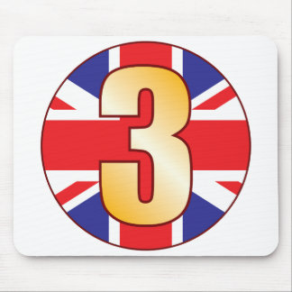 3 UK Gold Mouse Pad