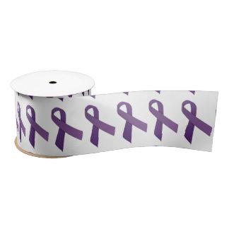 "3"" Wide Satin Pancreatic Cancer Awareness Ribbon Satin Ribbon"