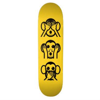 3 Wise Monkeys Emoji 20.6 Cm Skateboard Deck