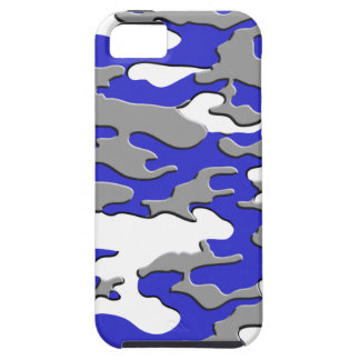 3d blue camo iPhone 5 covers