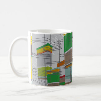 3D Graphics Art Colorful Building Blocks Mug