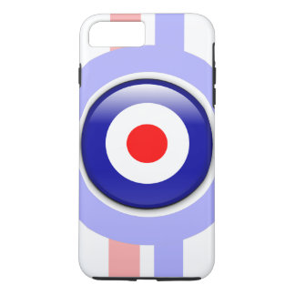 3d Mod target on Blue and red lines iPhone 7 Plus Case