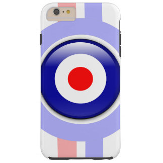 3d Mod target on Blue and red lines Tough iPhone 6 Plus Case