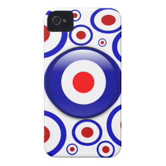 3d Mod Target on sixties pattern iPhone 4 Covers