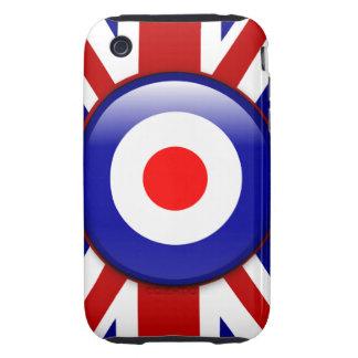 3D Mod target on Union jack print Tough iPhone 3 Covers