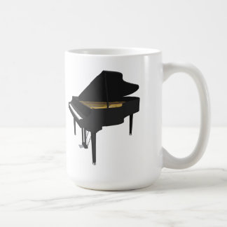 3D Model: Black Grand Piano: Basic White Mug