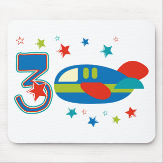 3rd Birthday Airplane Mouse Pad